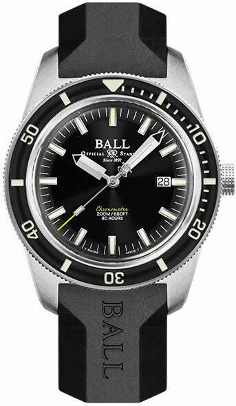 Ball Engineer II M Skindiver Heritage Black Dial on Strap