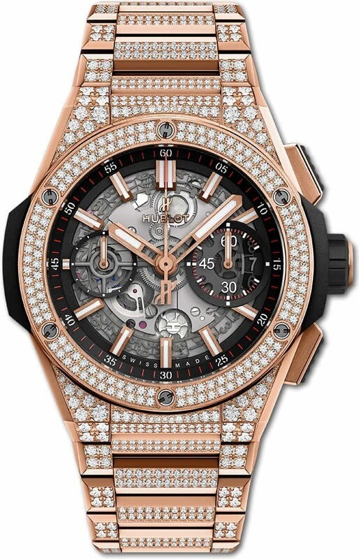 Hublot Big Bang Rose 'King' Gold Pavé Diamonds Integral Bracelet 42mm