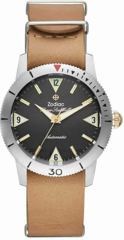 Zodiac Super Sea Wolf Automatic Brown Leather