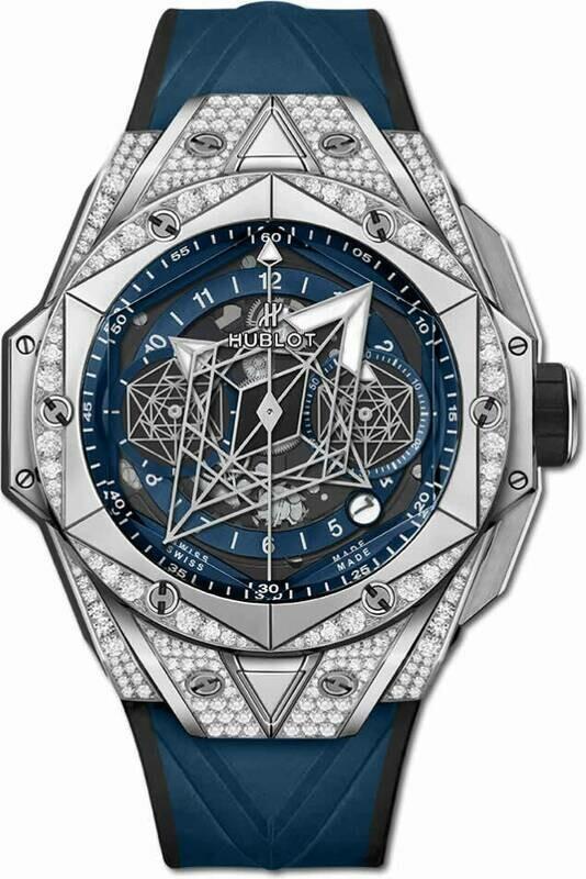 Hublot Big Bang Unico Sang Bleu II Titanium Blue Pavé