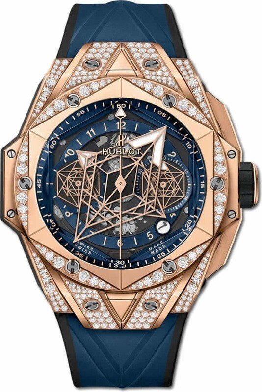 Hublot Big Bang Unico Sang Bleu II King Gold Blue Pavé