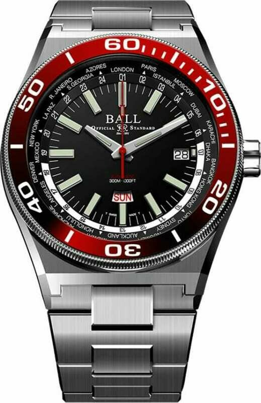 Ball Roadmaster Worldtimer 42mm DG3032A-S-BKRD