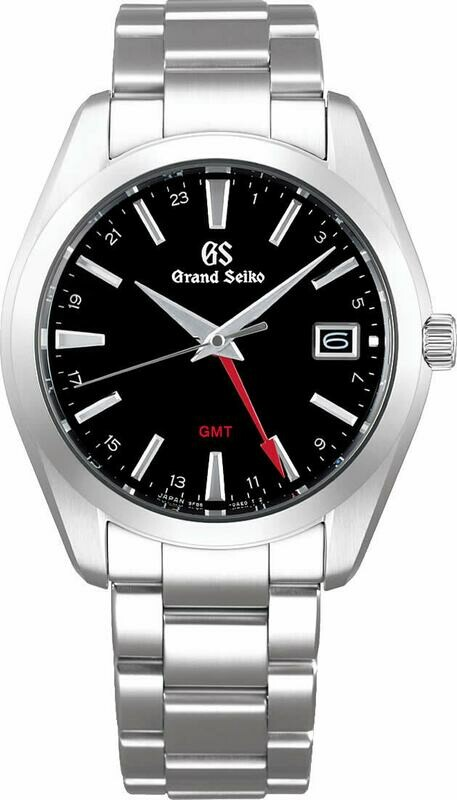 Grand Seiko SBGN013 GMT Black Dial