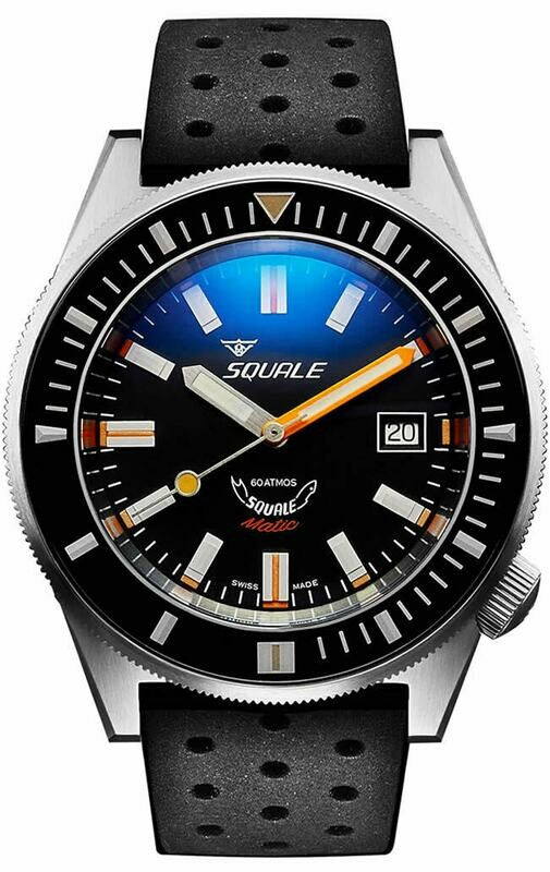 Squale Matic XSG on Rubber Strap