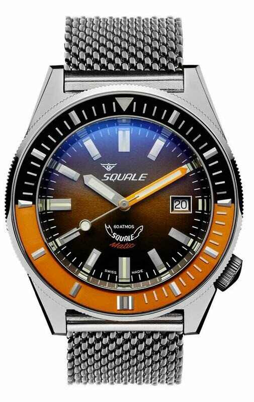 Squale Matic XSD Brown on Bracelet