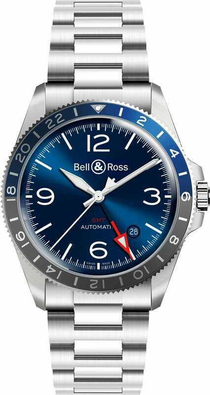 Bell & Ross BR V2-93 GMT Blue on Bracelet