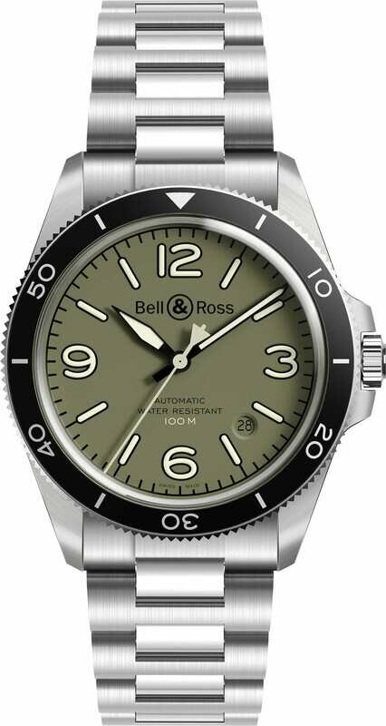 Bell & Ross BR V2-92 Military Green on Bracelet