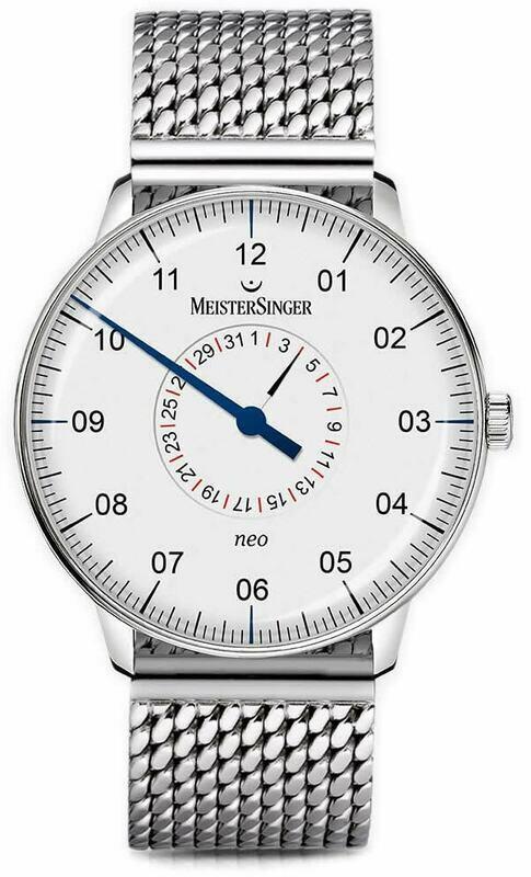 MeisterSinger Neo Plus Pointer Date Opaline Silver