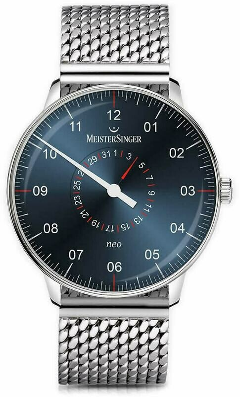 MeisterSinger Neo Plus Pointer Date Sunburst Steel Blue