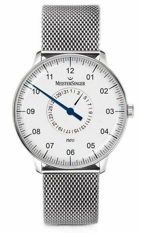 MeisterSinger Neo Pointer Date Opaline Silver