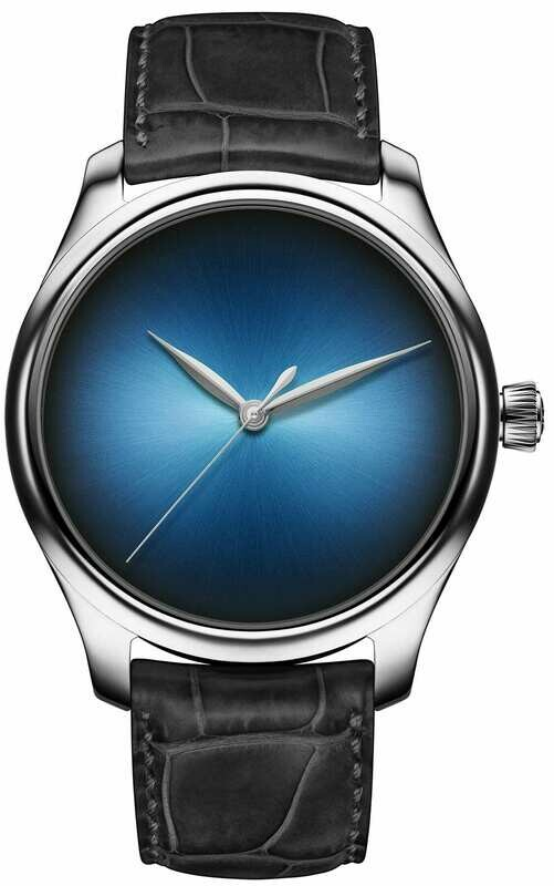 H. Moser & Cie. Endeavour Centre Seconds Concept White Gold Funky Blue