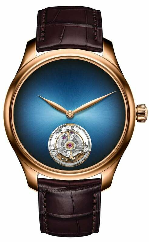 H. Moser & Cie. Endeavour Tourbillon Concept Red Gold Funky Blue