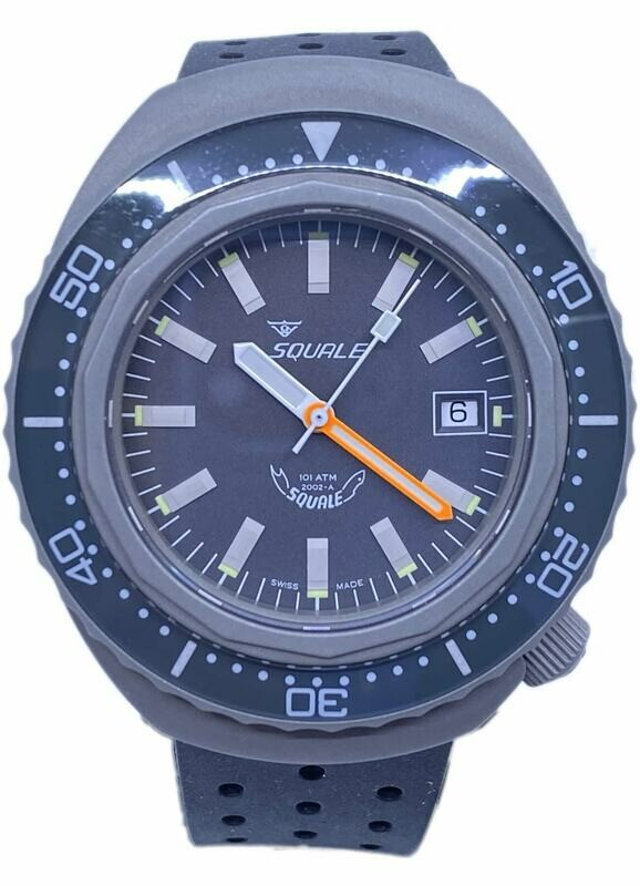 Squale 2002 Grey Dial B0834-03 2002.BR.G.G.NT