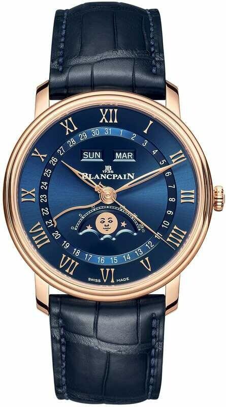 Blancpain Villeret Quantième Complete Calendar Blue Dial