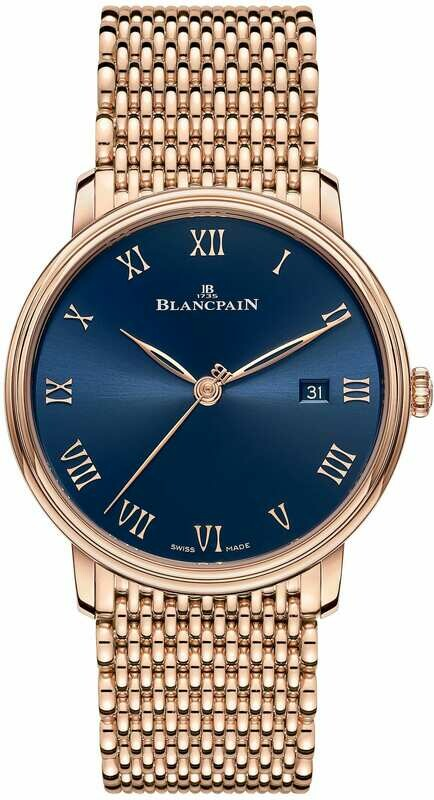Blancpain Villeret Ultraplate Blue Dial on Bracelet