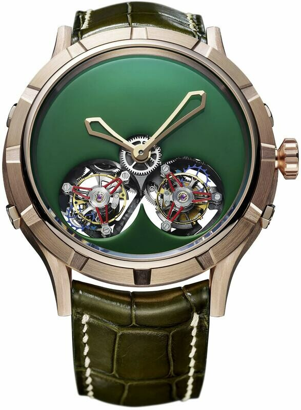Manufacture Royale Micromegas Double Flying Tourbillon Green Rose Gold