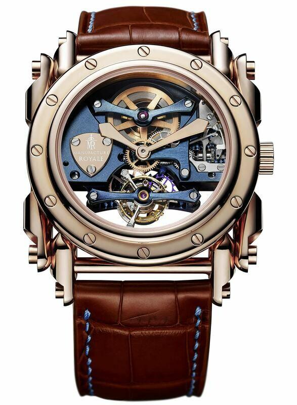 Manufacture Royale Androgyne Royale Bespoke Light Blue Rose Gold