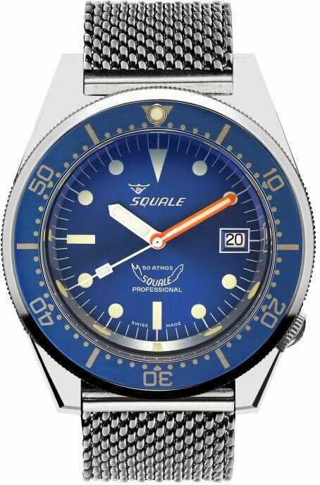 Squale 1521 Ocean Blue on Bracelet