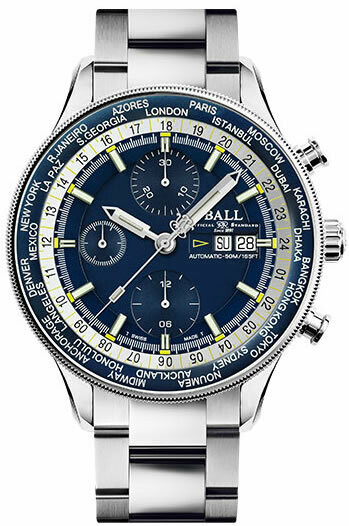 Ball Engineer II Navigator World Time Chronograph CM3388D-S-BE