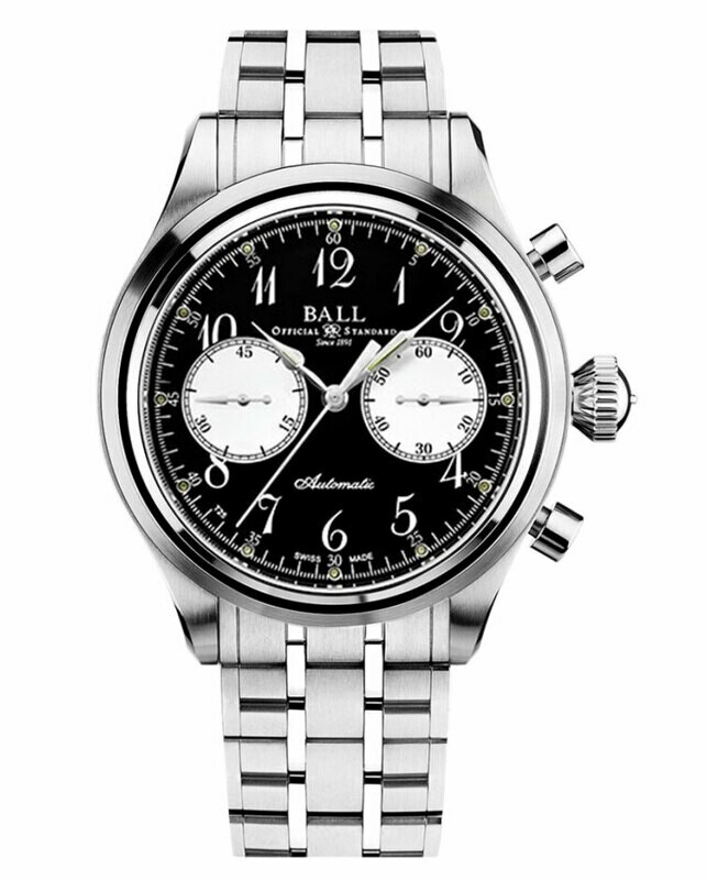 Ball Watch Trainmaster Cannonball Chronograph CM1052D-S7J-BK