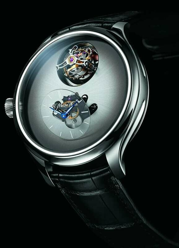 H. Moser & Cie. x MB&F Endeavour Cylindrical Tourbillon Off-White