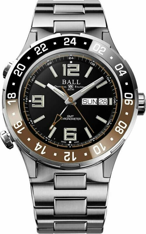 Ball Roadmaster Marine GMT 40mm Chocolate DG3030B-S3C-BK