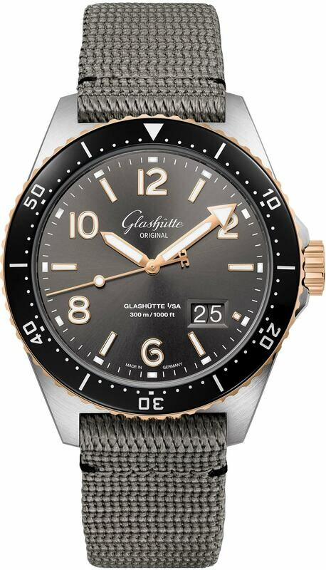 Glashütte Original SeaQ Panorama Date Steel and Gold