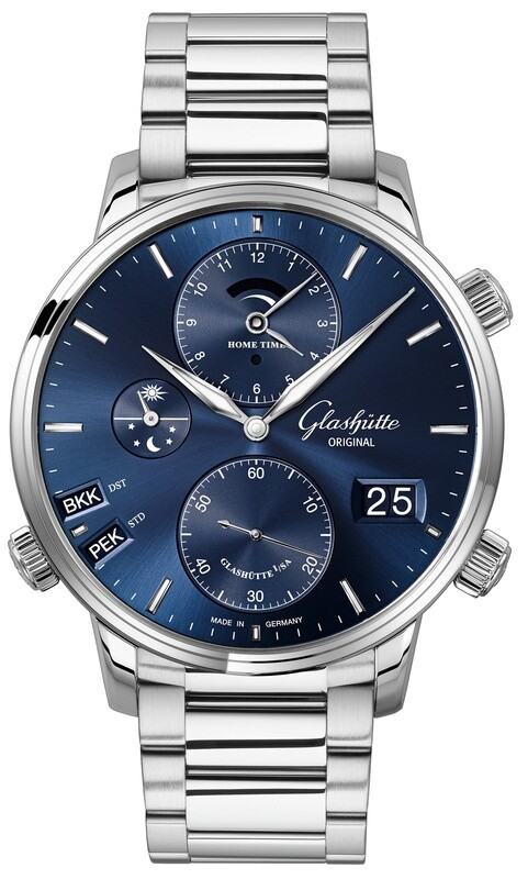Glashütte Original Senator Cosmopolite Midnight Blue on Bracelet
