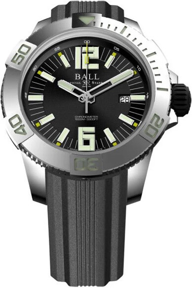 Ball Engineer Hydrocarbon DeepQUEST Black Dial on Strap