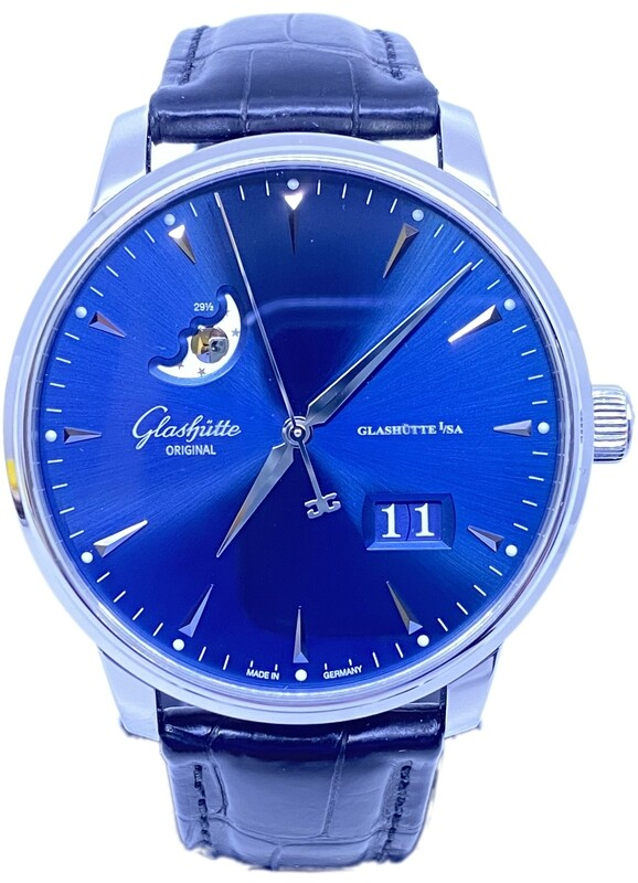 Glashütte Original Senator Excellence Panorama Date Blue Dial 1-36-03-04-02-01