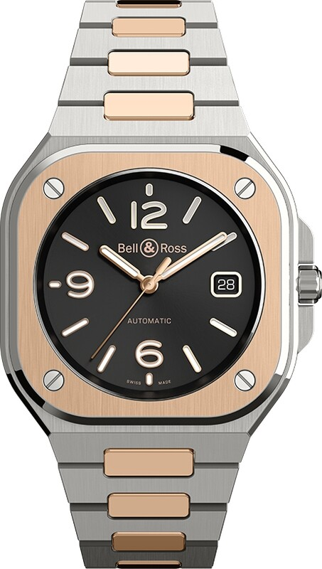 Bell & Ross BR 05 Black Steel & Gold on Bracelet