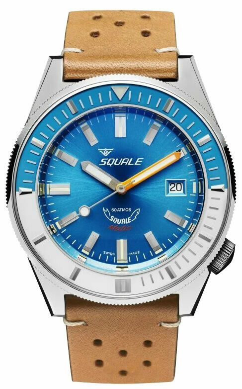 Squale Matic Light Blue on Strap