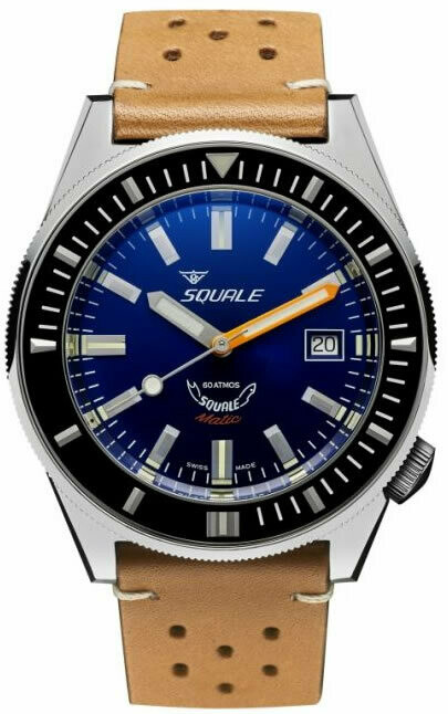 Squale Matic Blue on Strap