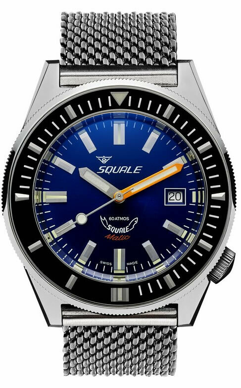 Squale Matic Blue on Bracelet