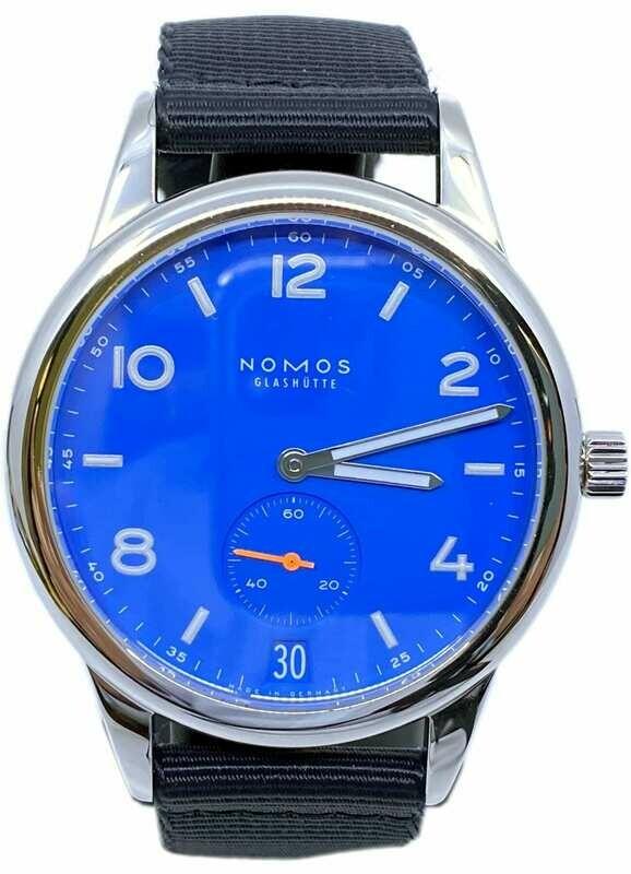 NOMOS Glashütte Club Automatic Date Blue 777