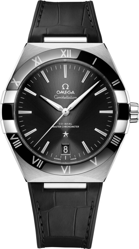 Omega Constellation Co-Axial Master Chronometer Steel Black Dial on Strap