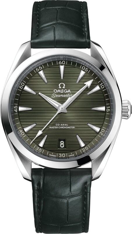 Omega Aqua Terra 150M Green Dial on Strap