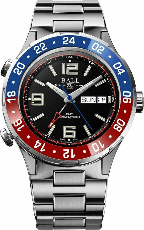 Ball Roadmaster Marine GMT Black Dial 40mm