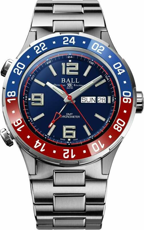 Ball Roadmaster Marine GMT Blue Dial 40mm