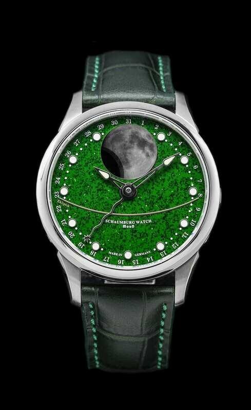 Schaumburg Watch Moon Green Aventurine