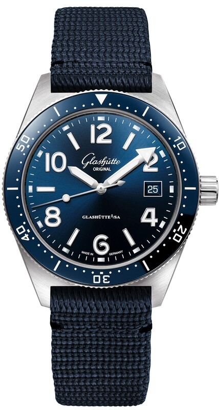 Glashütte Original SeaQ Blue Dial 39.5mm 1-39-11-09-81-34