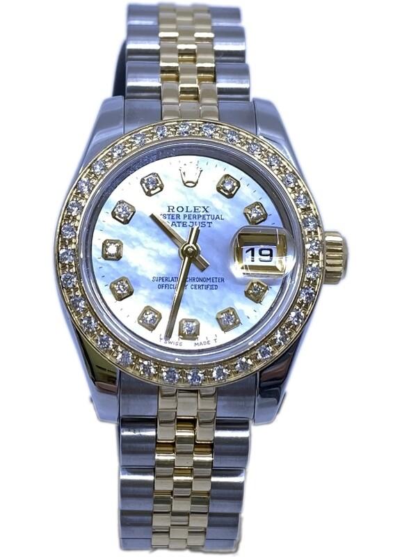 Rolex Datejust 179173 MOP Dial Diamonds Bezel and Indexes