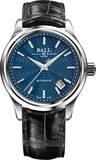 Ball Trainmaster Streamliner Blue Dial on Strap