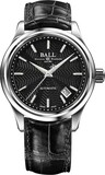 Ball Trainmaster Streamliner Black Dial on Strap