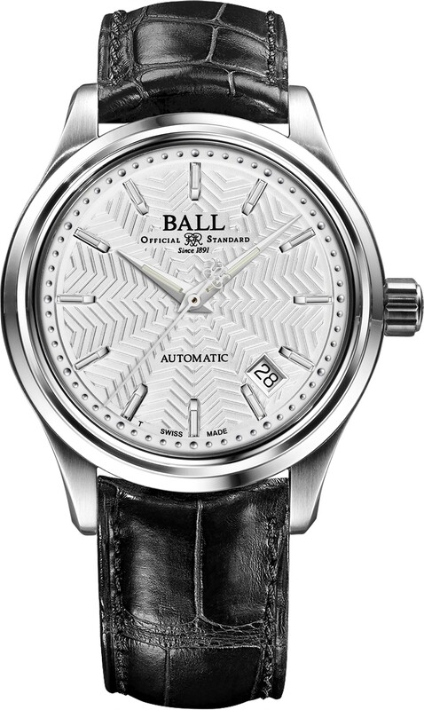 Ball Trainmaster Streamliner Silver Dial on Strap