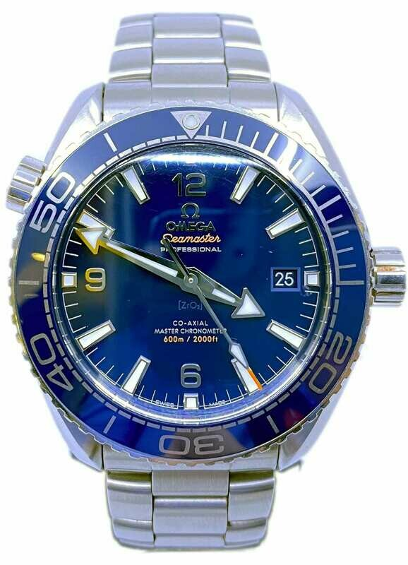 Planet Ocean 600M Omega Co‑Axial Master Chronometer 43.5 mm 215.33.44.21.03.001