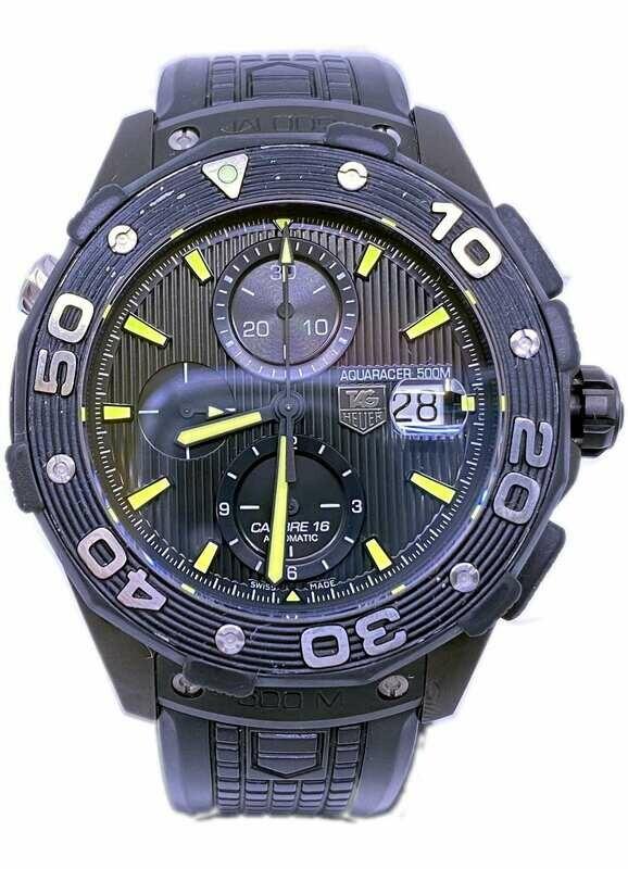 Tag Heuer Aquaracer Chronograph Automatic Black Dial Titanium Men's Watch CAJ2180.FT6023