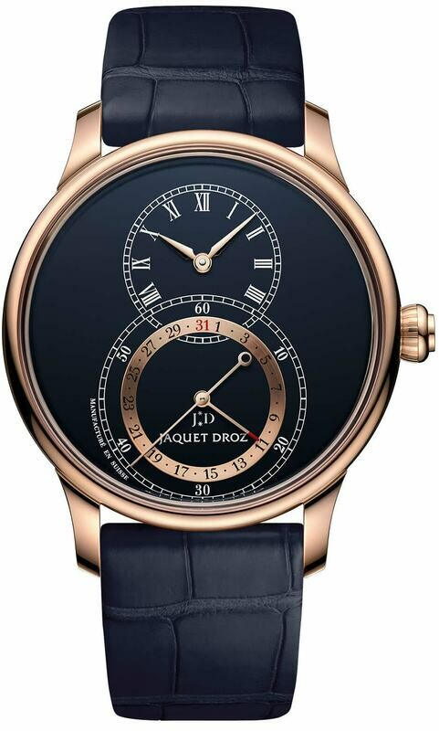 Jaquet Droz Grande Seconde Quantieme Dark Blue Enamel