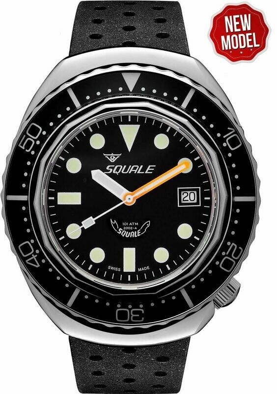 Squale Sapphire Bezel 2002.SS.BK.BK.NT