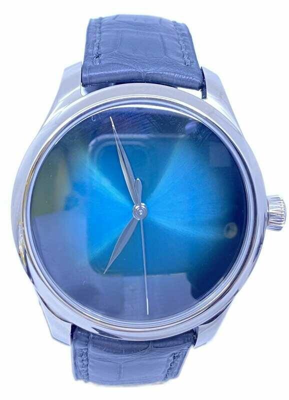 H. Moser & Cie. Endeavour Centre Seconds Concept Blue Lagoon White Gold